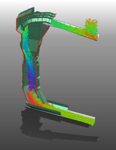 Material Flow through Chute