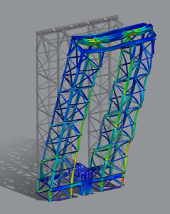 NX FEA - Typical take-up tower